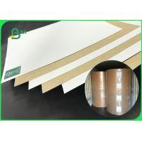 China Hard Folding Resistance 250gsm 275gsm 300gsm Coated Kraft Board For Packing Box on sale