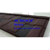 Best Customized Color Stone Coated Roof Tile 0.4mm Red Black Shingle , Metal Roof Shingles wholesale