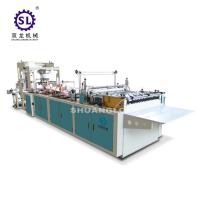 Slef-closing zipper bag making machine automatic polythene 12.8kw Power