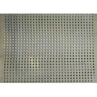 Best Square Hole Perforated Stainless Steel Plate , Length 1m Perforated Mesh Sheet wholesale
