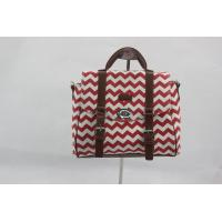 Best Portable Red Custom Made Canvas Bags With Outside Button Inner Pocket wholesale