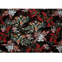 Best DTM Floral Embroidery Multi Colored Lace Fabric For Show Dress Eco Friendly wholesale