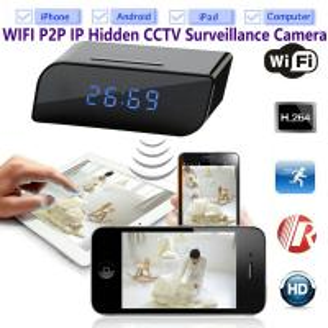 Best T8S 720P Alarm Clock WIFI P2P IP Spy Hidden Camera Home Security CCTV Surveillance DVR with Android/iOS App Control wholesale