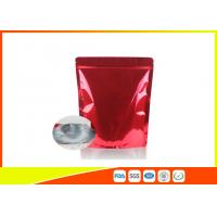 Best Customized Red Tea Packaging Bags With Zipper / Coffee Bean Pouches wholesale