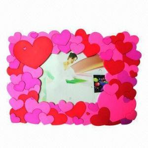 Best 3D Embossed Customized Logo Plastic Photo Frame for Honey Wedding wholesale