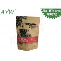 China Fresh Roasted Coffee Kraft Paper Zipper Bags 500g For Crema Espresso Beans on sale