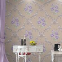 Best Eco-friendly High quality Moisture proof cheap price flowers style PVC vinyl wall paper wholesale
