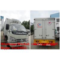 Best HOT SALE! Factory sale good price forland 4*2 RHD 4tons refrigerator truck with USA CARRIER reefer for Mozambique wholesale