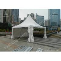 Quality Transparent Soft Fabric Window High Peak Tents on the Concrete Ground wholesale