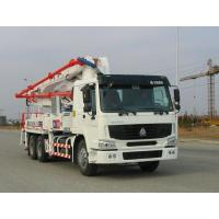 Best Safety Electronically Control Concrete Pump Truck Strong Stability With HOWO Chassis wholesale