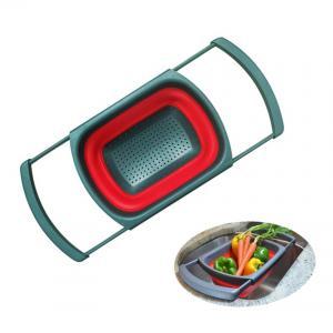 Best Kitchen Collapsible Colander Over The Sink Strainer 6 Quart Capacity Dishwasher Safe BPA Free wholesale