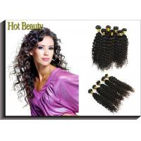Best Custom Natural Black Remy Virgin Human Hair Extensions Deep Wave wholesale