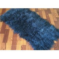 Best 2 *4' Navy Blue Mongolian Fur Throw Blanket , Large Sofa Throws Anti Wrinkle wholesale
