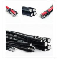 Best 120 Volt Aerial Service Aluminum Overhead Power Cables Quaduplex Cores wholesale