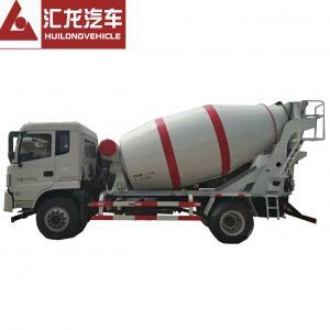 China Professional Small Concrete Mixer Truck Self Loading HOWO 4*2 3 CBM White Color on sale