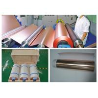 Best ISO Approval Battery Copper Foil Sheet , LB Single Shiny Copper Sheet Roll wholesale