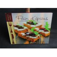 Best Publishing 2 Color Cook Book Printing With CMYK / Pantone Color thick cardboard wholesale