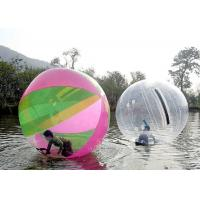 Best Safety Rope Connection Inflatable Walking Ball , Walk On Water Bubble 2.0m 2.5m Diameter wholesale