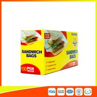 Cheap Food Grade Plastic Clear Recyclable Sandwich Bags , Reusable Bag With Zipper for sale