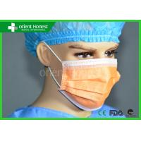 Best TYPE IIR Non Woven Medical Disposable Face Masks In Pink Purple Orange Yellow wholesale