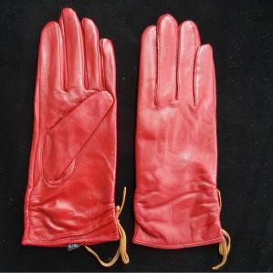 Best Leather Womens Waterproof Gloves , Sheepskin Womens Leather Dress Gloves wholesale