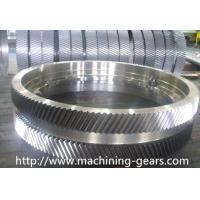 Quality Iron Large Pitch Diameter Gear Wheels For Cement / Mining Facilities wholesale