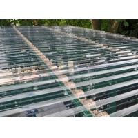 Best Transparent Corrugated Polycarbonate Sheets For Roof Covering 0.8 - 1mm Thickness wholesale