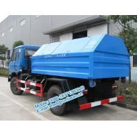Cheap Hydraulic lift blue color Dongfeng 4X2 8 ton hook lift truck cheap price for for sale