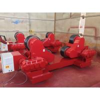 Best 100 Ton Loading Capacity Self-Aligned Welding Turning Rolls With Rubber Wheel 5.5kw wholesale