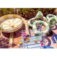 Best Fiberglass Space Bowl Water Slide / Outdoor Swimming Pool Slide For Hotel Resort wholesale