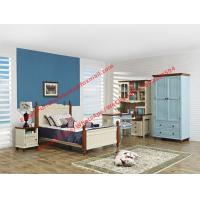 Best Hotel style apartment interior furniture for single people bedroom set by double bed and read bookcase set with armoire wholesale