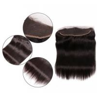 Best Peruvian Remy Natural Lace Frontal Closure Side Part Silk Straight wholesale