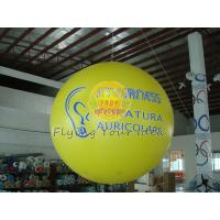 Best 2.5m Yellow Inflatable Advertising Helium Balloons with Total Digital Printing for Party wholesale