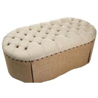 Best french retro wooden ottoman puff pouf wholesale fabric ottomans home goods furniture wholesale