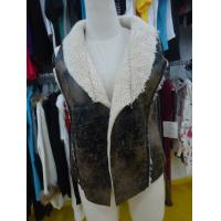 Best Sleeveless Womens Faux Fur Winter Coats , Comfy Ladies Lightweight Jackets wholesale