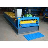 Buy cheap Metal Corrugated Roof Sheet Making Machine , 3kw Roof Panel Making Machine from wholesalers