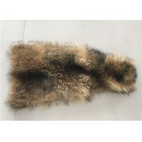 Best Natural Color Raccoon Fur Collar Raw Skin A Grade 70 - 105cm For Garment / Home Textile wholesale