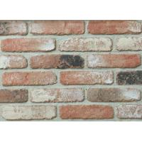 Quality 5D20-6 Indoor Faux Brick Wall Panels , Clay Exterior Brick Tiles For Walls 210x55x12mm wholesale