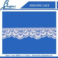 China White knitted lace trim for garments on sale