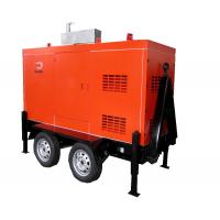 China Mobile Trailer Mounted Generator 40KW / 50KVA With Silent Canopy And Fuel Tank on sale