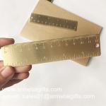 Best Satin brush brass bookmark ruler, OEM brushed brass mini ruler bookmarks wholesale