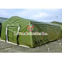 Best Fireproof Canvas Military Tent , Hot Air Sealed Urgent Inflatable Shelter Tent wholesale