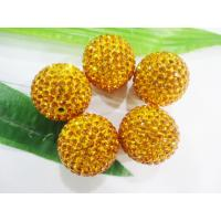 Cheap Jewelry Accessories Shamballa Crystal Pave Ball Beads 10mm For Bracelets / Necklace for sale