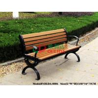 Best Park Outdoor Patio Bench With Back No Painting , Antisepsis Recycled Plastic Benches wholesale