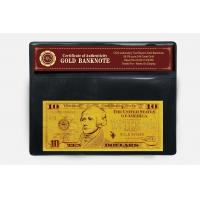 Buy cheap 10 USD 24k Gold Dollar Bill from wholesalers