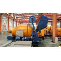 China Trailer Mobile Concrete Mixer with Pump with 100m Steel Delivery Pipe Line on Sale on sale