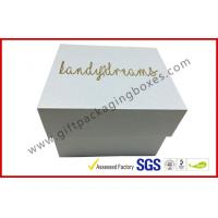 Best Pearl white top and base box golden logo , smart watch box with PU pillow wholesale