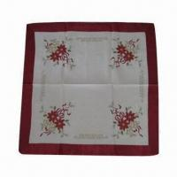 Best Polyester tablecloth with embroidery wholesale