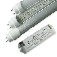 Best SMD3528 8W 50000h 600mm Dimmable Led Light Tube With External DC Drivers, Rotating End Cap wholesale