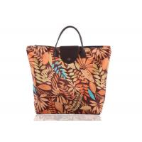 Buy cheap Custom Oxford Cloth Folding Portable Shopping Bag With PU Leather Handle from wholesalers
